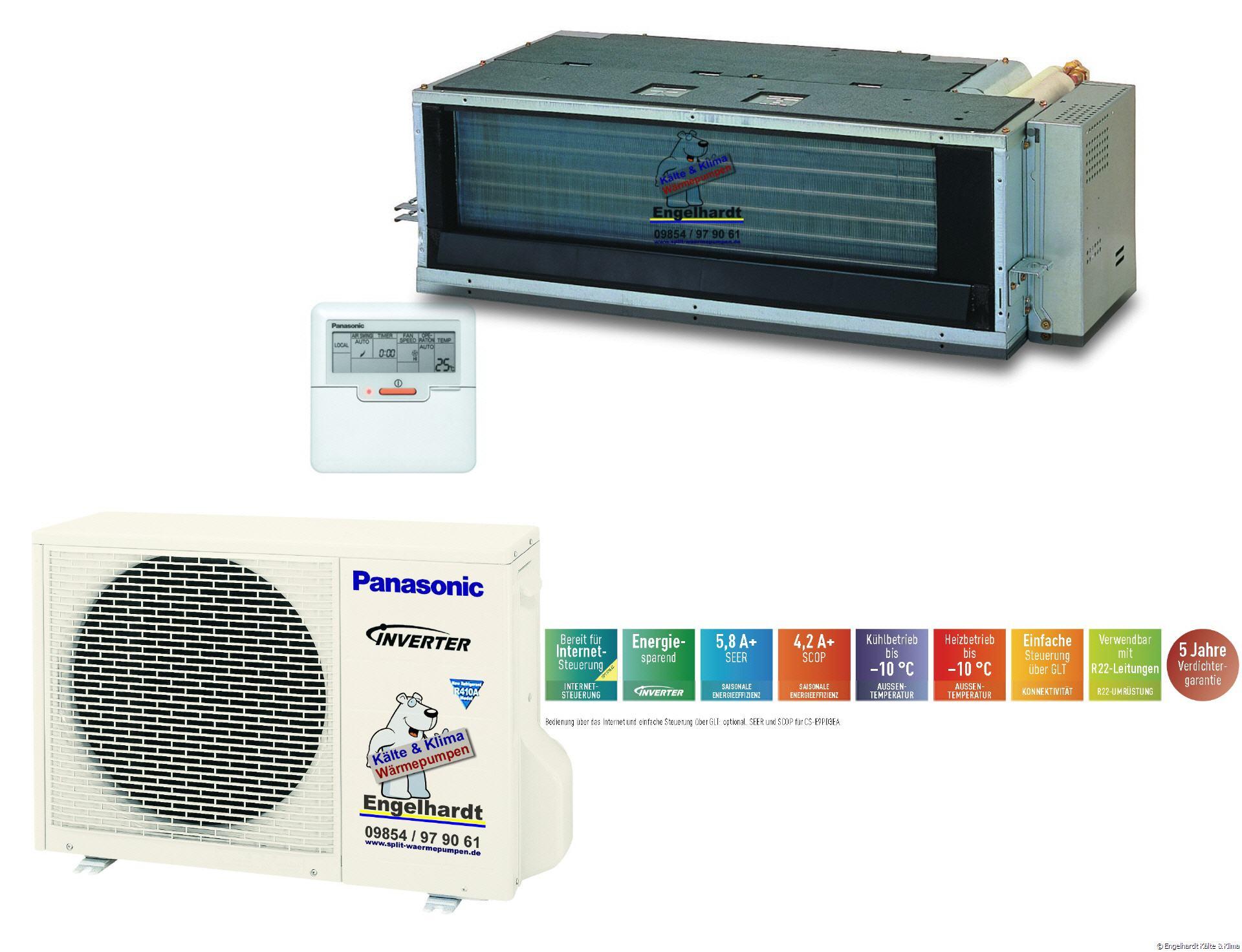 Panasonic PD3EA Kanalgerät Klimaanlage Mit Inverter CS