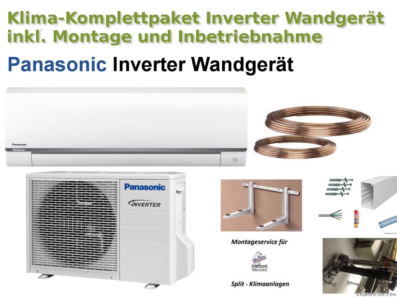 Bekannt Panasonic Inverter Wandklimaanlage mit Montagematerial, Montage NF41